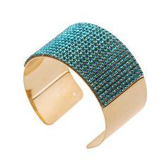 Mujeres calientes de moda para mujer joyas de diamantes CZ cristalino del oro plateado pulsera de los brazaletes de puño alta calidad Pulseiras en Brazaletes de Joyas y accesorios en AliExpress.com | Alibaba Group