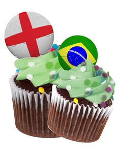 World Cup 2014 cup cake toppers Soccer Birthday Parties, Boy Birthday, Birthday Cakes, Cupcake Wars, Cupcake Toppers, Cupcake Ideas, Soccer Cup, World Cup 2014, Rice Paper