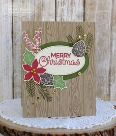 Taylored Expressions HOLIDAY FLORALS Cling Stamp Set TEMD86 zoom image