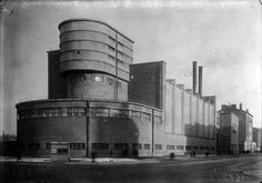 """The substation of the factory """"Krasnoe znamia"""" Architect: E. Mendelson Saint Petersburg Completed: 1925 - 1926"""