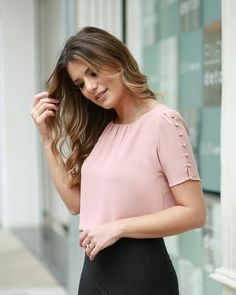 1005 Likes 14 CommentsLike the style of this blouse but the color is too light for my fair skin tone Cute Blouses, Shirt Blouses, Blouses For Women, Blouse Styles, Blouse Designs, Formal Tops For Women, Western Wear, Fashion Outfits, Womens Fashion