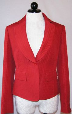 ELLEN TRACY womens suit jacket size 8 blazer in Pomegranate. Available now on ebay with free ship, BIN, OBO!