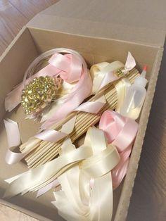 50 DIY Wedding Ribbon Wand Kit Your Choice Of By TheBridesMadeShop