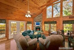 Spacious Living Room with Vaulted Ceiling