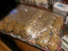 Christmas cookies, home-made by yours truly: snicerdoodles, chocolate chip, oatmeal raisin, and sugar cookies.