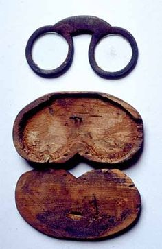 Pilgrim glasses and case. By the time of Gutenberg's invention of the printing press around 1450, glasses were already used by artisans as well as monks and other religious scholars.