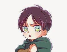 Chibi Eren.   #進撃の巨人 #AttackOnTitan #ShingekiNoKyojin #ErenJaeger #ErenJäger #エレン_イェーガー #Cute