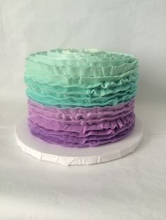 """A """"Smash Cake"""" Would need this in magenta and purple. Yellow cake with vanilla buttercream."""