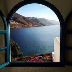 Αμοργός Amorgos Greece Greek Islands Vacation, Places To Travel, Places To Visit, Places In Greece, Ocean Pictures, Greek Isles, Crete Greece, Window View, China Travel