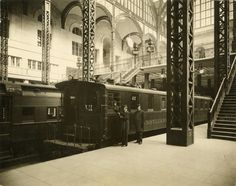New York City Pennsylvania Station - 1910 Pennsylvania Station was brand new when this photo was taken - the station opened for Pennsylvania Railroad service on November 27th 1910 after nine years of construction. The Long Island Railroad began using this station in September of 1910.
