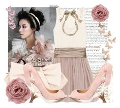 """""""Fairytale of my own"""" by lolla3 ❤ liked on Polyvore featuring Haute Hippie, Fiorelli, Anthropologie, Casadei and Lanvin"""