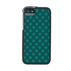 Teal Cadet Blue Polka Dot Pattern Girly Trendy Cover For iPhone 5/5S
