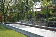 Bocce Ball Court - If you like to play this game. It is a rectangular place from cement or other hard material, used for bocce ball game. Mykonos, Fresco, Bocce Ball Court, Outside Games, Gazebos, Backyard Games, Backyard Sports, Backyard Ideas, Outdoor Living