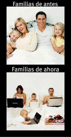 Families before - Families now?  (Las familias han cambiado bastante)