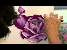 How to Paint a Pink Rose with Pallet Knife - YouTube