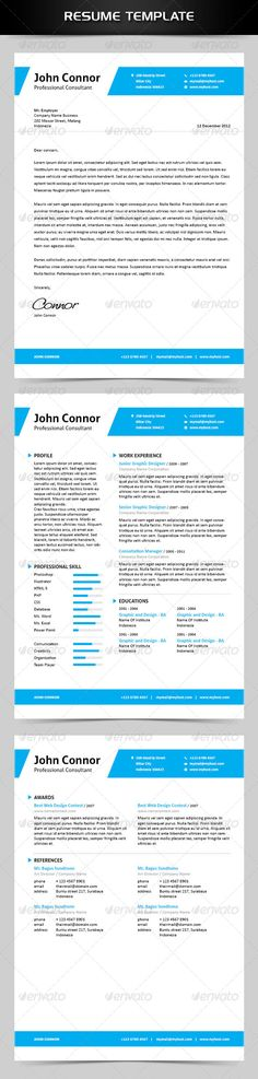 Modern Resume Template \/ 2 Page Resume Words, Shops and Modern - reference page for a resume