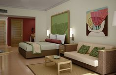 Rooms at the hotel Meliá Jardines del Rey. Features, facilities and services for each room type. Booking rooms at Meliá Jardines del Rey. All Inclusive Packages, All Inclusive Vacations, Cuba Hotels, Hotels And Resorts, Cayo Coco Cuba, At The Hotel, Guest Room, Relax, Furniture