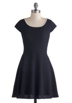 Pearly to Rise Dress. Youre off to an early start this morning, and in this navy blue dress, you look as adorable as ever! #blueNaN