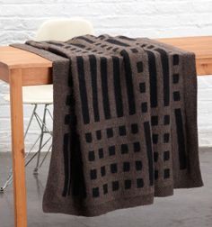 Mud Cloth Inspired Afghan from Lion Brand yarns.  Knitting pattern