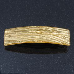 Gold Glittering Acrylic Barrette Hair Clip Grip - 85mm Across - main view 25mm wide £6.50 - could be used as a cabinet handle if quality is ok