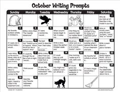 FREE printable March Writing Prompts Calendar: Perfect for