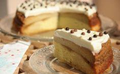 Tort cu crema de zahar ars (love this) Romanian Food, Romanian Recipes, Food Cakes, Homemade Cakes, Easy Desserts, Cake Recipes, Delish, Caramel, Cheesecake