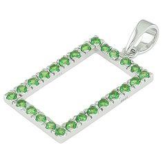 Tsavorite white gold designer pendant
