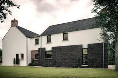 PLease take time to check out this replacement dwelling. This bespoke L-shaped dwelling design is a traditional rural farmstead in a secluded rural setting. Interior Design Northern Ireland, Modern Farmhouse Design, Farmhouse Contemporary, House Designs Ireland, Architecture 101, House Address, Farmhouse Renovation, Exterior Design, Armagh