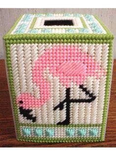 Flamingos in Plastic Canvas