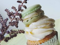 Swiss Meringues Lemon Cupcake  Lime Macron on top. What else to say? - Candy Bar by Tereza  Tereza, Oslo.