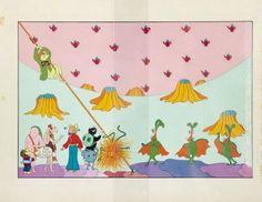 Grażyna Dłużniewska (ur. 1946 r.) Trzynaste piórko Eufemii, 1977 r., ilustracja nr 20  Aukcja Komiksu i Ilustracji, dom aukcyjny DESA Unicum, 13 listopada 2014