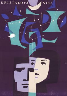 Křištálová noc, by Frantisek Hrubín (Národní Divadlo) Movies, Movie Posters, Art, Art Background, Films, Film Poster, Kunst, Cinema, Movie