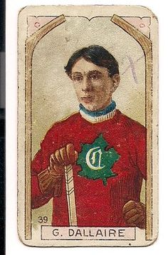 In the very early days of hockey cards...
