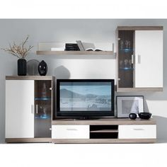 Sekcija sastāv no 4 elementiem Modular Furniture, Furniture Decor, Tv Cabinets, The Unit, House Design, Led, Interior Design, Home Decor, Wall Units
