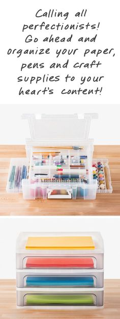 Our ArtBin Deluxe Super Satchel is the ultimate way to store all your crafting or art supplies. You'll be amazed at all the different compartments and trays for organizing. Add our Desktop Paper Drawers and you have the ideal solution for organizing crafting paper.
