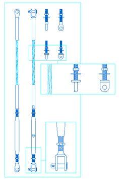 Wire rope turnbuckles and eyebolts Entrance Design, Facade Design, Staircase Design, Steel Trusses, Steel Columns, Brutalist Buildings, Metal Buildings, Canopy Design, Loft Design