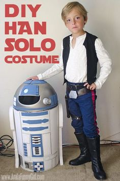 For Star Wars fans: this DIY Han Solo costume is surprisingly easy to put together, and is easy to make for both kids and adults!