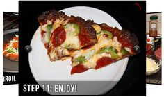 Ultra Low Carb Crustless Burger Pizza