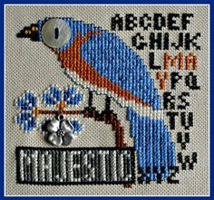 Majestic May (Bird's Eye) Cross Stitch Pattern