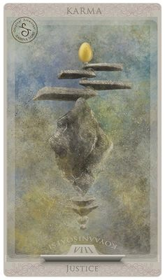 Tarot card: Justice by Sabina Nore