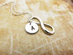 Infinity Charm Necklace Personalized by StampedCharmsJewelry, $14.00