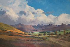 'Approach to Clarens - Free State'.this is a great painting! Landscape Art, Landscape Paintings, Landscapes, South African Art, Cityscape Art, Olie, Free State, John Smith, Paintings I Love