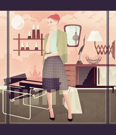 Mod Men Illustrations by Jack Hughes