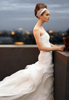 "I am in love with Vera Wangs new collection ""White"". The bridesmaids dresses in this collection are gorgeous too!"