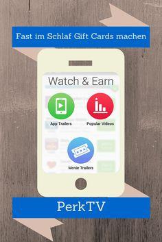 Mit Perk Rewards kannst du sehr einfach Geld und/oder Gift Cards machen. Perk hat sehr viele Möglichkeiten für dich, Videos schauen, Spiele, Fernseh schauen, Musik hören, online suche und vieles mehr. Und fast ganz nebenbei kannst deine mit Perk gesammelten Punkte in Geld auf eine Visa Karte, Paypal auszahlen lassen oder eine Gift Card aus einem wirklich großem Sortiment wählen.  #GiftCards #UsaBilligAberGutLeben