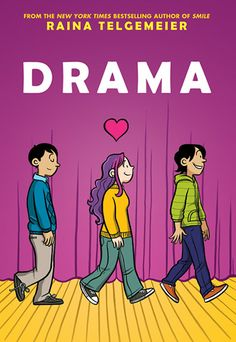 Entirely worth the wait. Raina tops SMILE, if you can believe that's possible. As the parent of a theater geek, I can tell you that DRAMA is spot on. I can't remember the last time I smiled and laughed so much while reading. DRAMA is my new passion!  books4yourkids.com: Drama by Raina Telgemeier with color by Gurihiru, 233 pp, RL MIDDLE GRADE