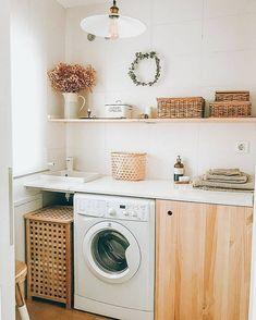 Laundry Decor, Laundry Room, Console Table, Decoration, Home Deco, Washing Machine, Home Appliances, Instagram, Design