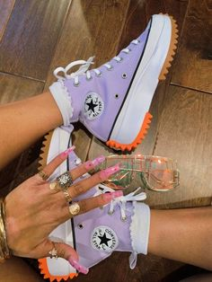 High Top Sneakers, Shoes Sneakers, Shoes Heels, Cute Sneakers, Crazy Shoes, Me Too Shoes, Sneakers Fashion, Fashion Shoes, Mode Ootd