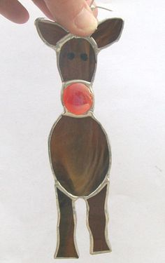 Image result for stained glass reindeer