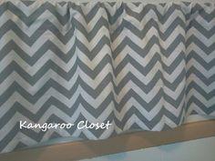 White and Ash Gray Zigzag Valances Chevron by KangarooCloset,  Luca's curtain.